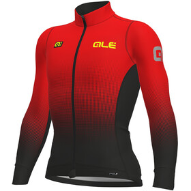 Alé Cycling PRS Dots DWR Longsleeve Jersey Men black-red